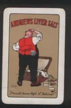 Old Advertising Playing Cards Andrews Liver Salts